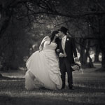 Wedding photo in an olive grove in Adelaide