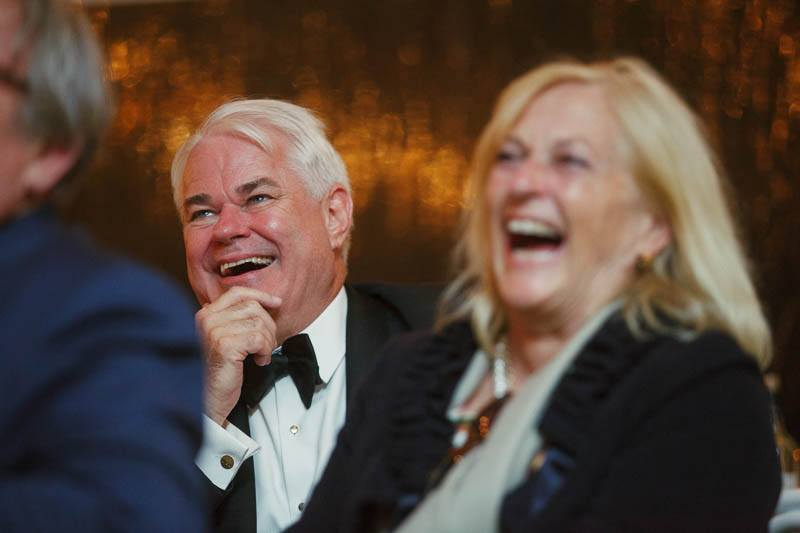 Parents enjoying the best man speech