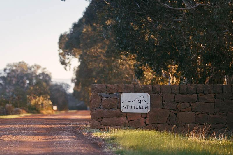 The entrance at Mt Sturgeon Homestead just after sunrise