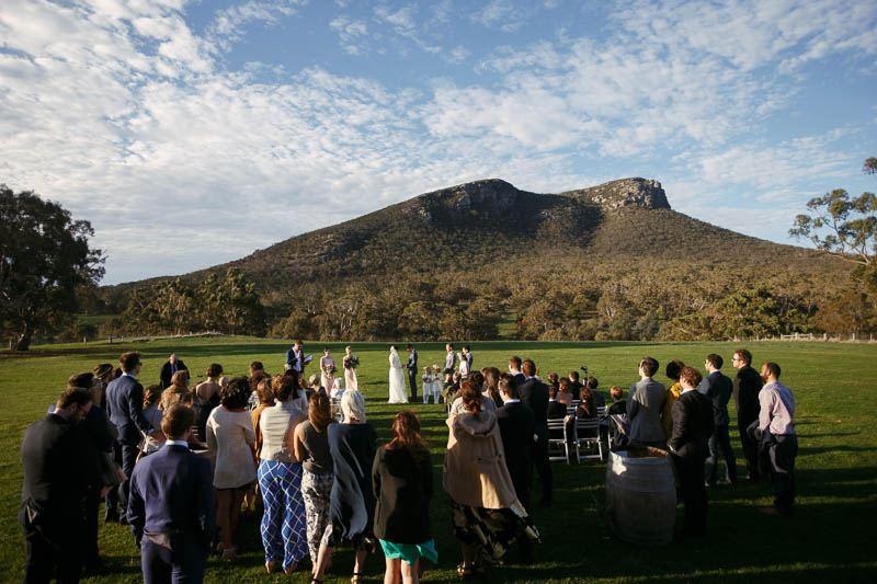 Wedding ceremony at Mt Sturgeon