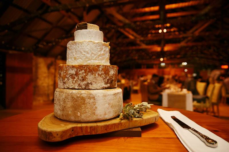 Wedding cheese cake made from wheels of cheese