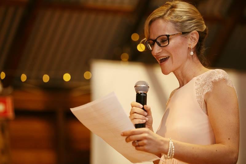 Wedding speech by the bridesmaid