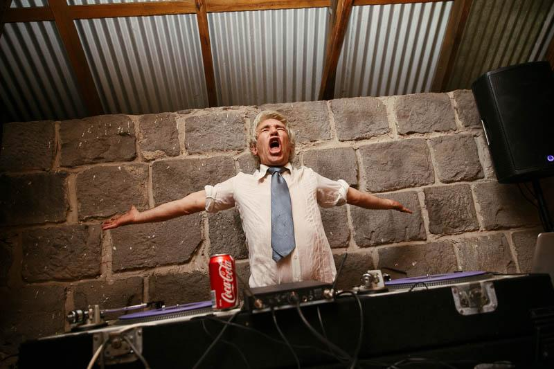 The DJ - Paul gurry, the most fun and most drunk wedding DJ around.