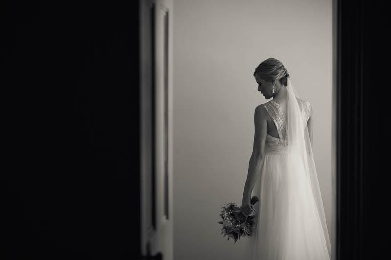 Bride portrait by a window at Waverley Estate