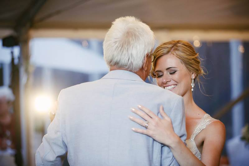 Father daughter dance at the wedding reception