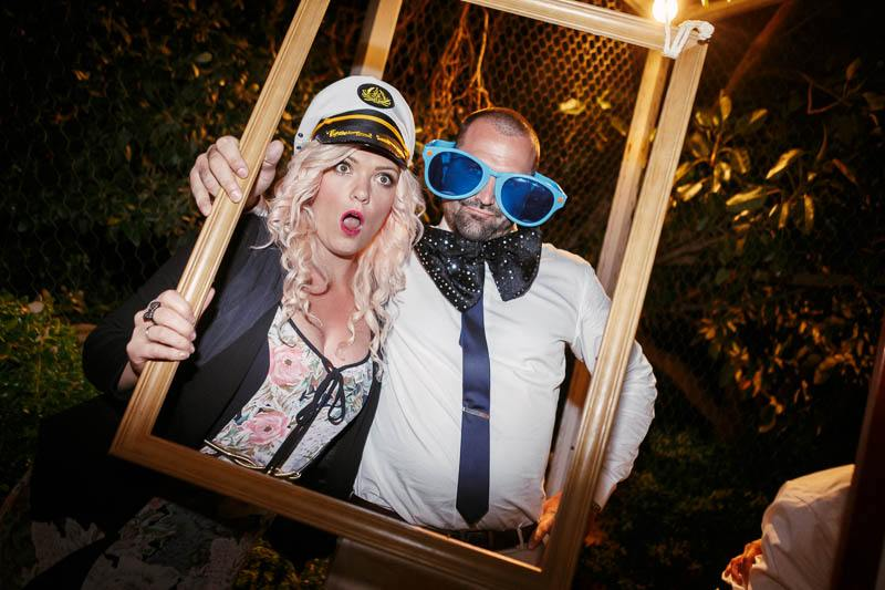 Photobooth fun with the guests at the reception