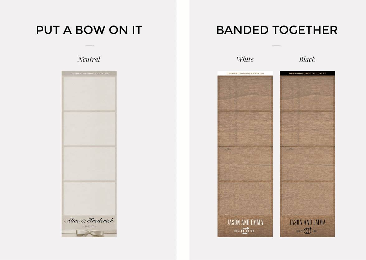 Photobooth stip design options