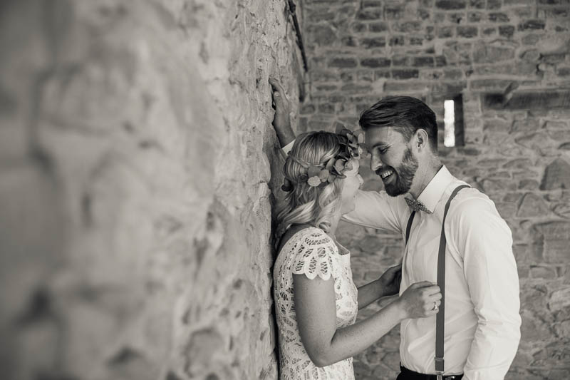We found some old stone walls to have photos with - the bride loved stone walls.