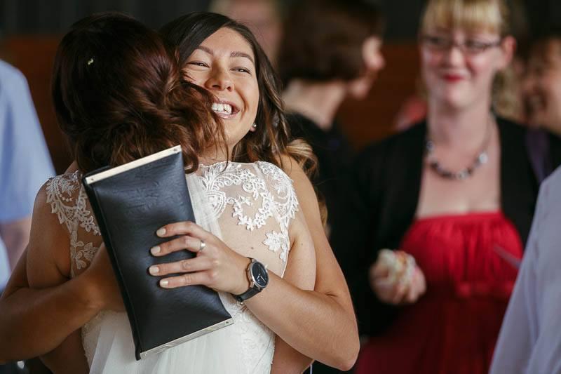 Congratulations continue after the wedding ceremony