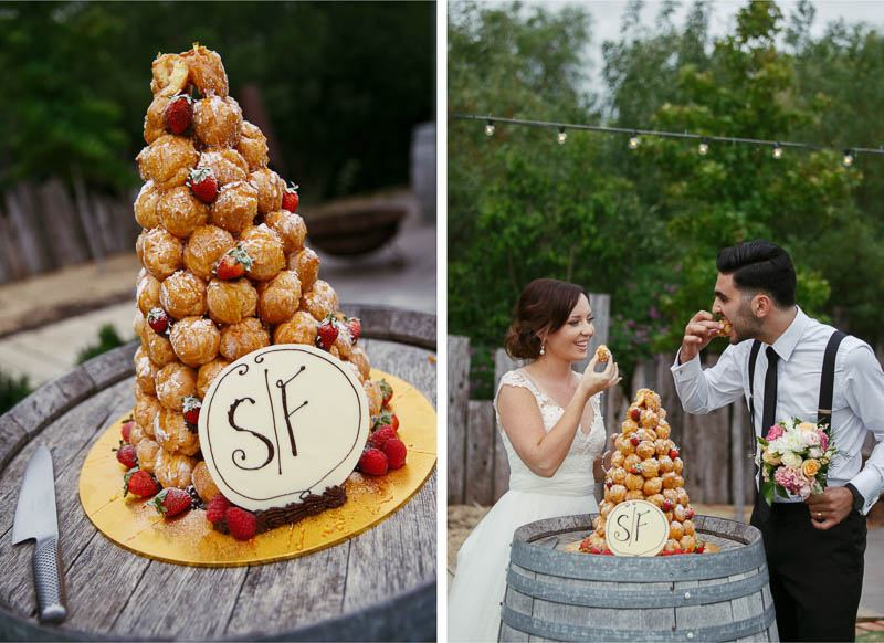 Croquembouche wedding cake at Clean Slate