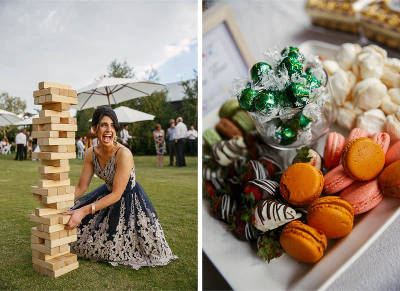 Lawn games and nibbles during the reception
