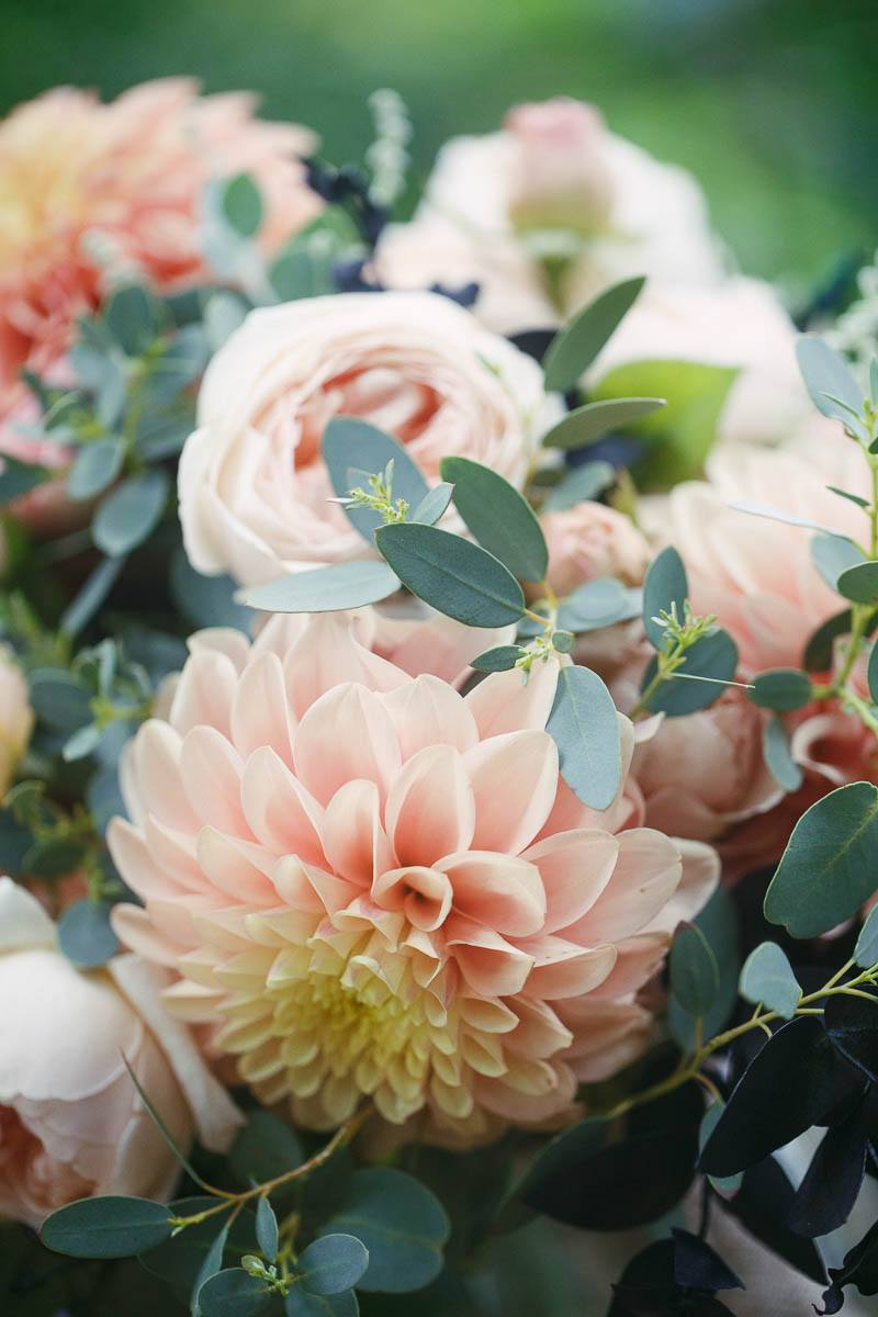 Details of the bridal flowers, Photographed by James Field