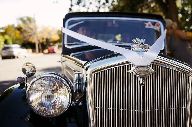 Details of the bridal car