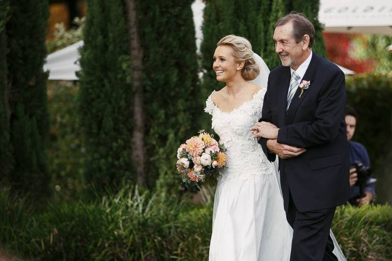 Bride and her father entering the ceremony