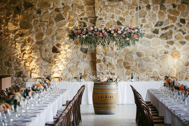 Room setup at Golding wines