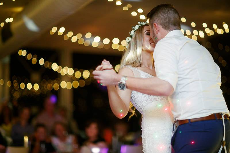 First dance of the bride and groom at the Inglewood Inn