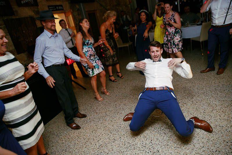 Groomsman's impressive moves on the dancefloor