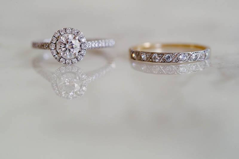 The brides wedding rings