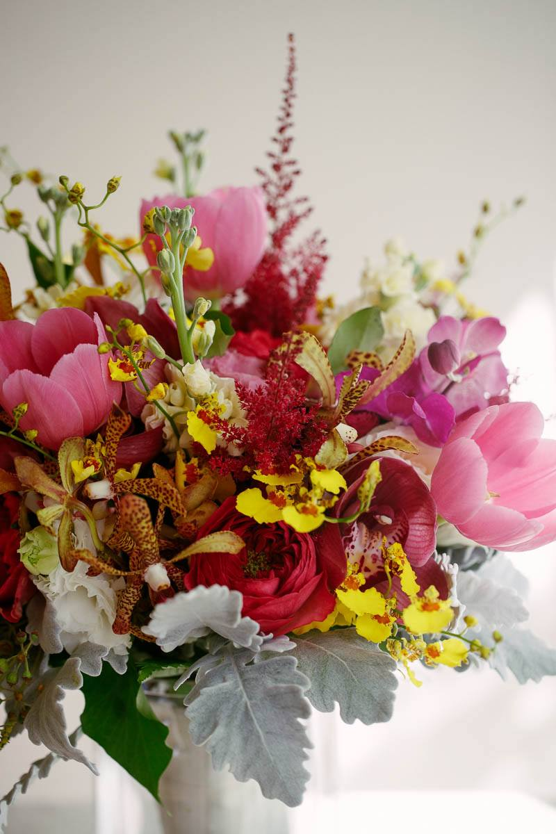 Details of the wedding flowers