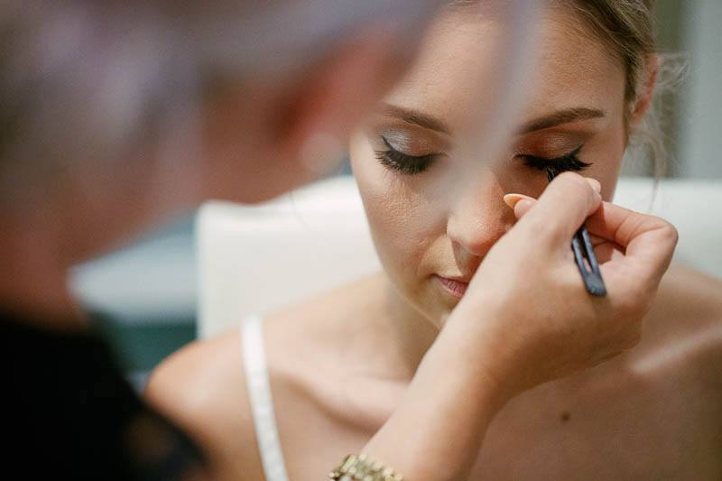 Wedding makeup touchups