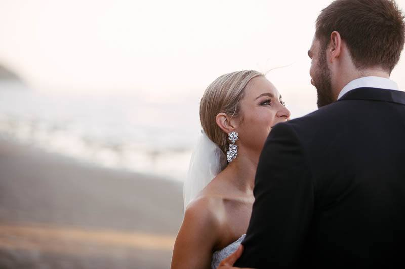 Wedding photography of the bride and groom in Pt Douglas