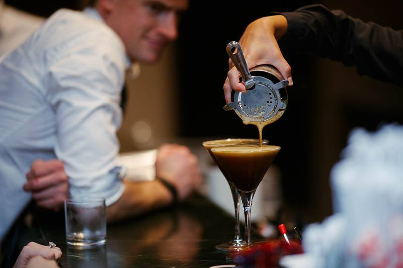Excellent coffee martinis being poured at the Sheraton Mirage in Pt Douglas
