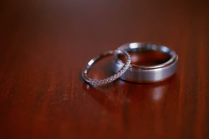 The wedding rings