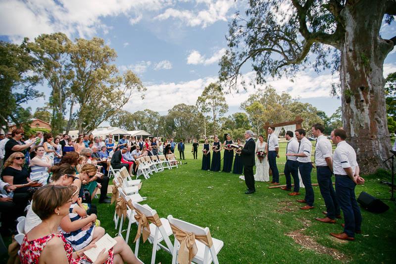 Wedding ceremony at Serafino Wines, McLaren Vale