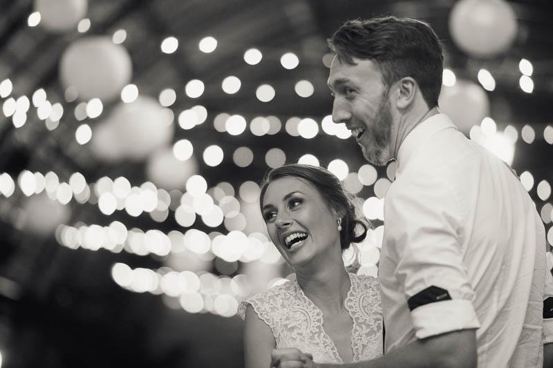 Bride and groom on the dancefloor