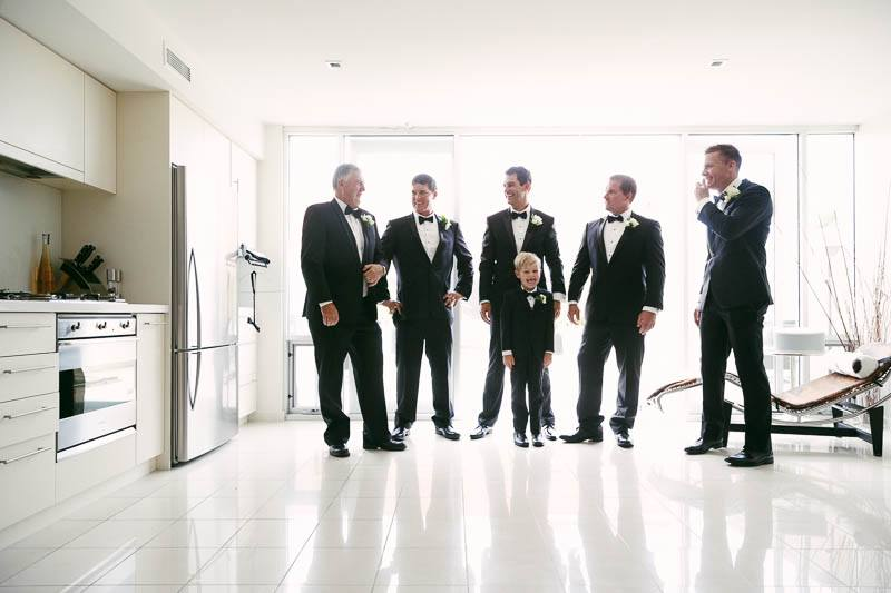 After all the groomsmen were ready for the wedding