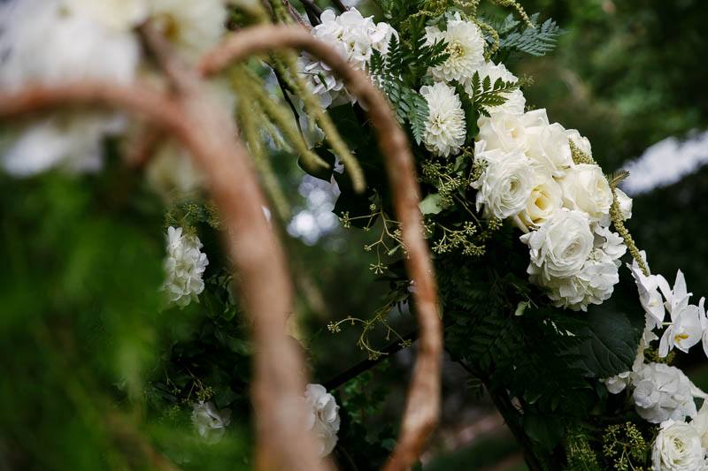 Details of the flowers at the ceremony
