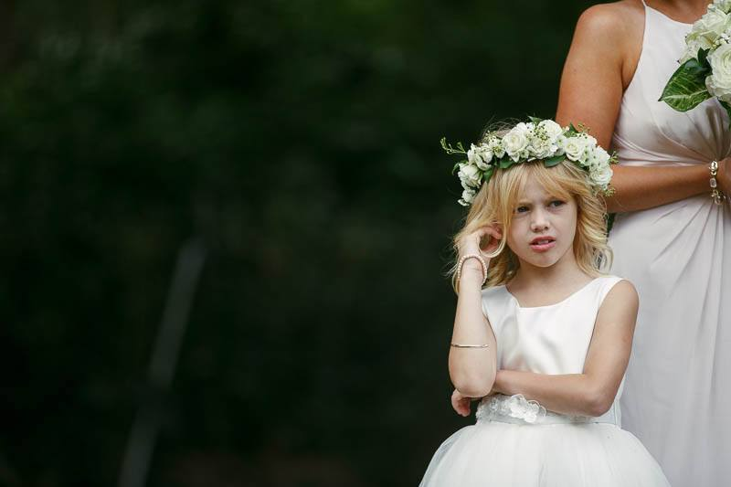 Bored flower girl at Stangate House