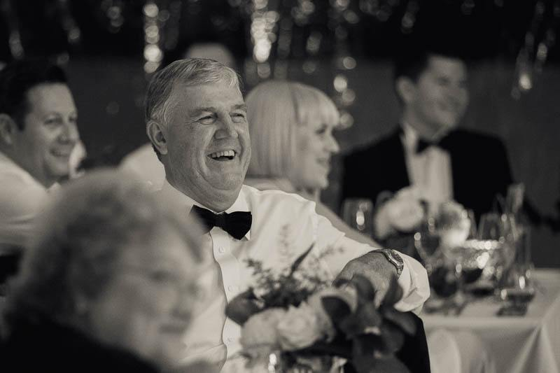 Father of the groom enjoying watching the first dance