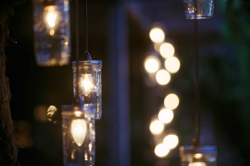 Details of the lighting setup at The Currant Shed