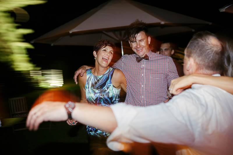 Mother of the bride having a great time on the dance floor