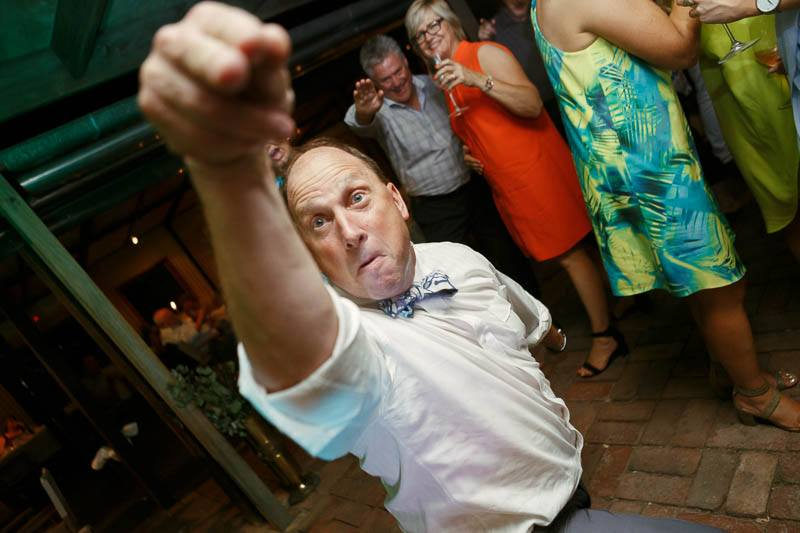 Father of the bride with some impressive moves on the dancefloor